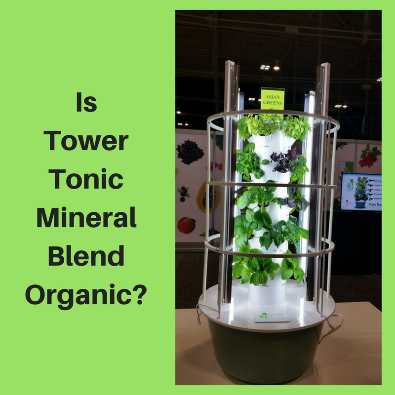 Is Tower Tonic Mineral Blend Organic_