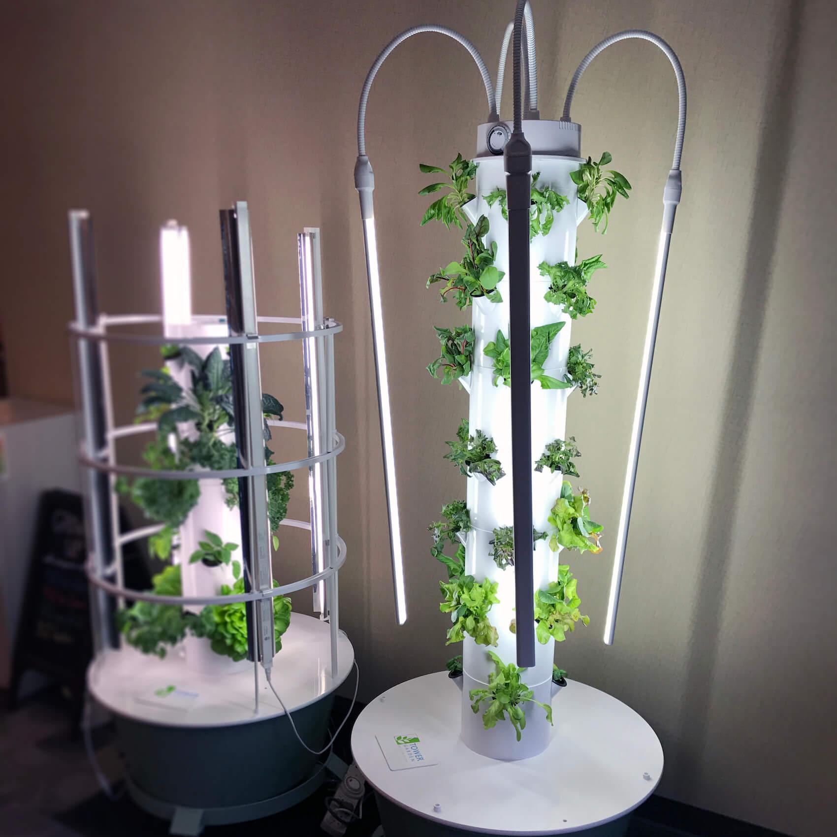 Led Lights Make Indoor Vertical Gardening Easier Backyard Tower Garden